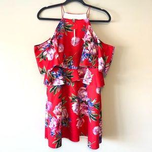 NWT ASOS Halter/Cold Shoulder Dress